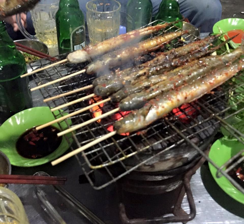cá kèo nướng