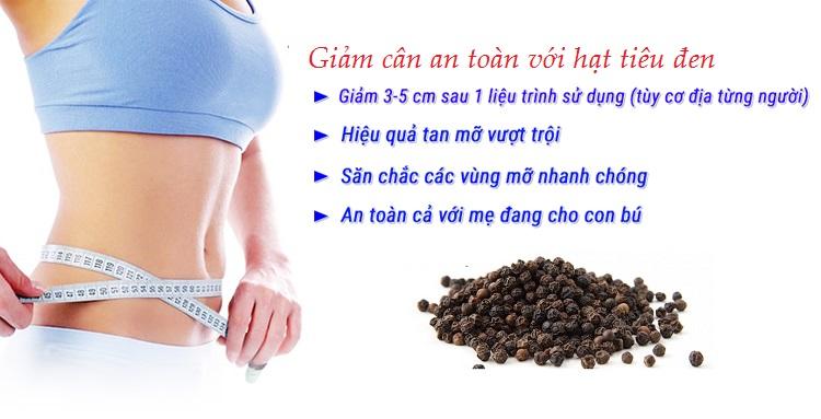 Giảm cân an toàn với hạt tiêu đen